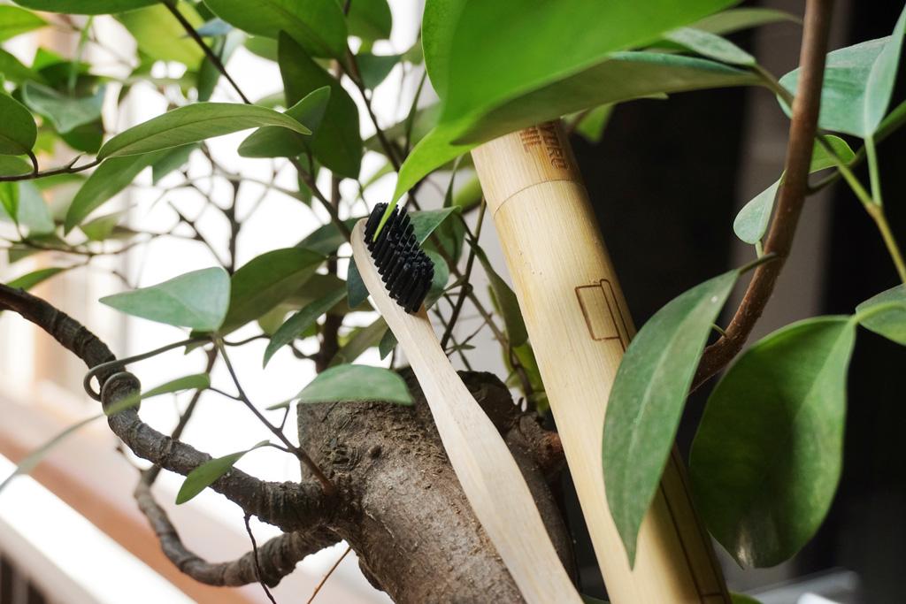Viajar con menos plástico con el cepillo de bambú