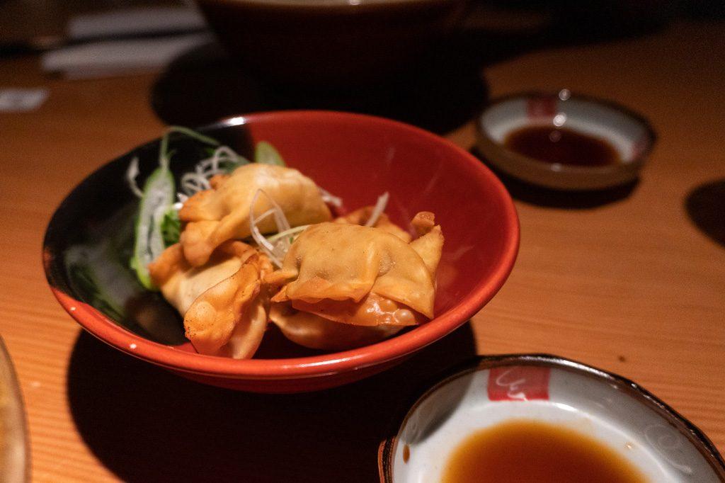 Comida vegana en Kioto. Gyozas de verduras.