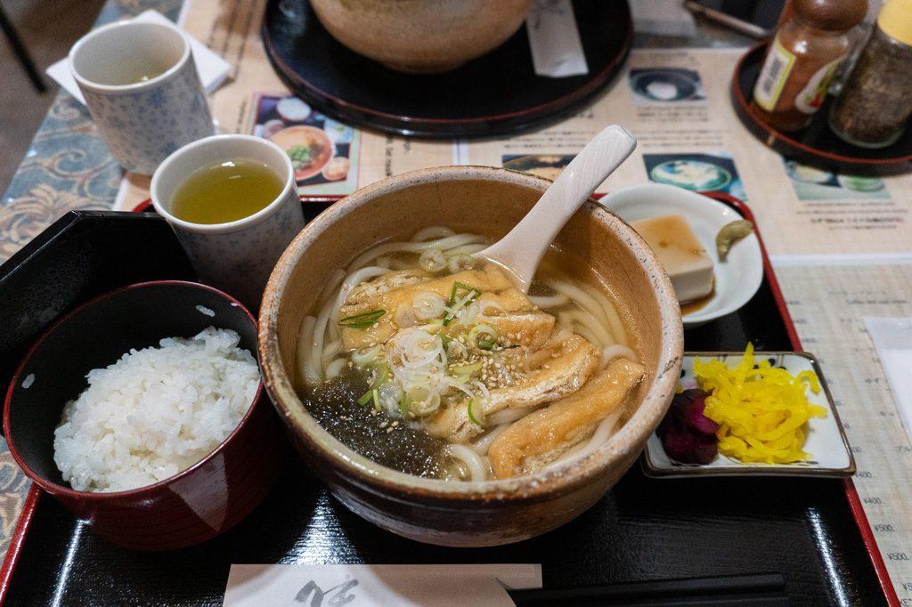 Comida vegana en Rokumeien.