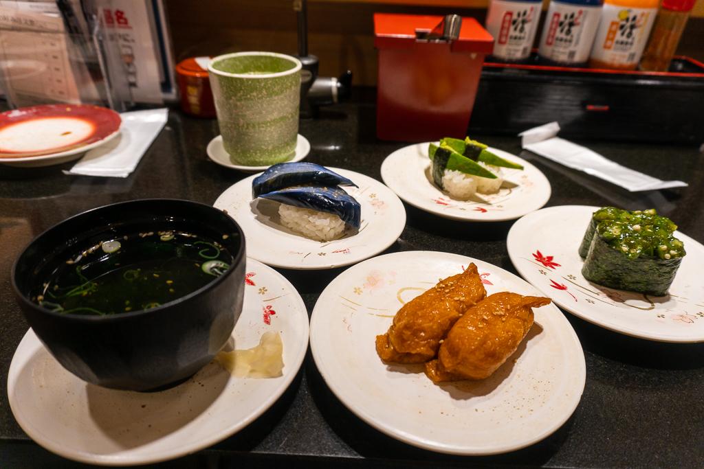 Comida vegana en Tokio: sushi