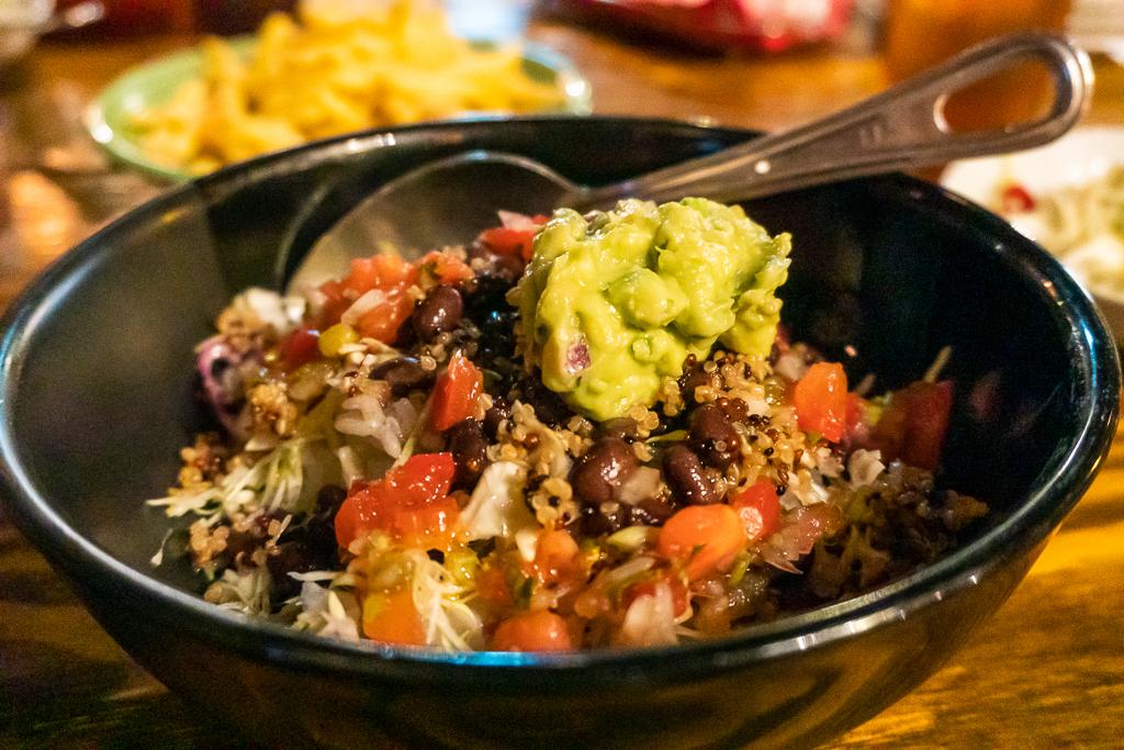 Comida vegana en Tokio: bowl de frijoles