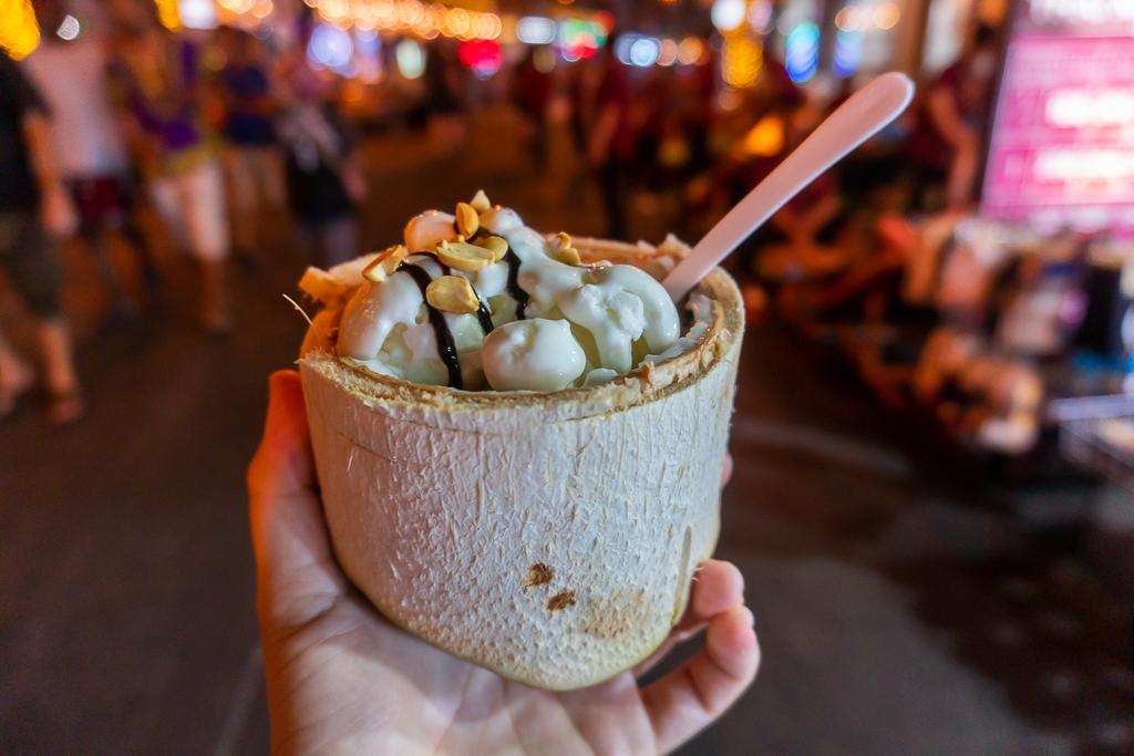 helado de coco en tailandia