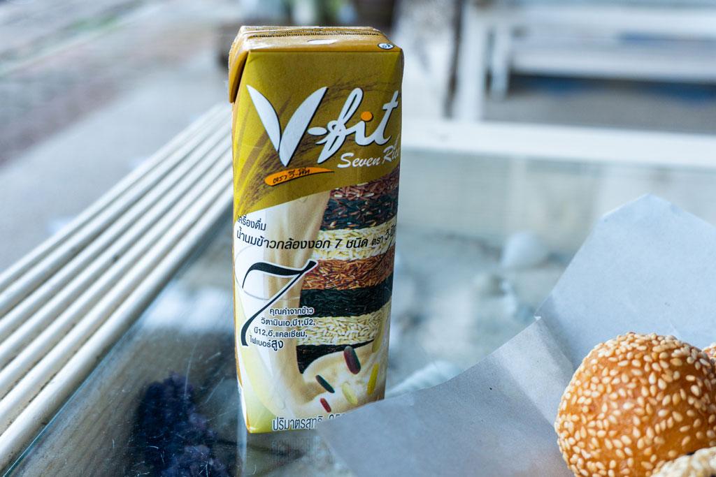 Comer vegano en Tailandia: bebida de arroz