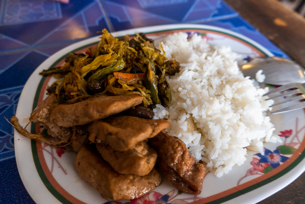 comer vegano en Tailandia: comida Jay