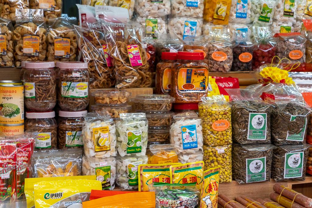 Productos envasados mercado de Tailandia