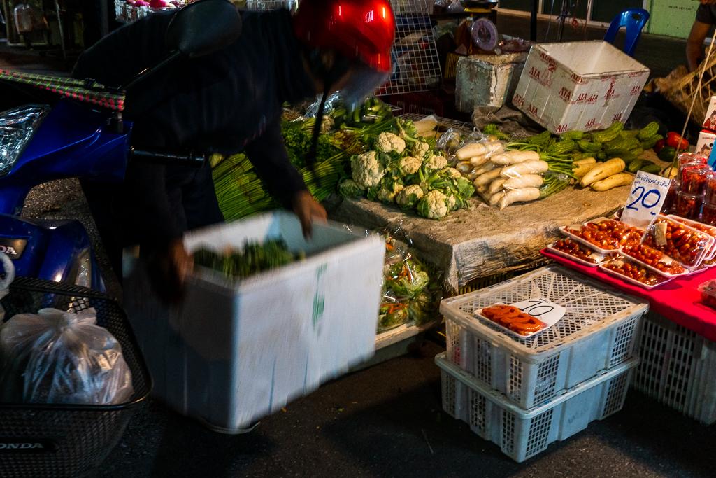 comer vegano en Tailandia: Mercados locales tailandia